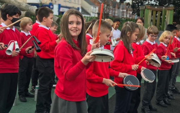 Not the Albert Hall – County Primary Schools Form Virtual Samba Band For Children In Need!